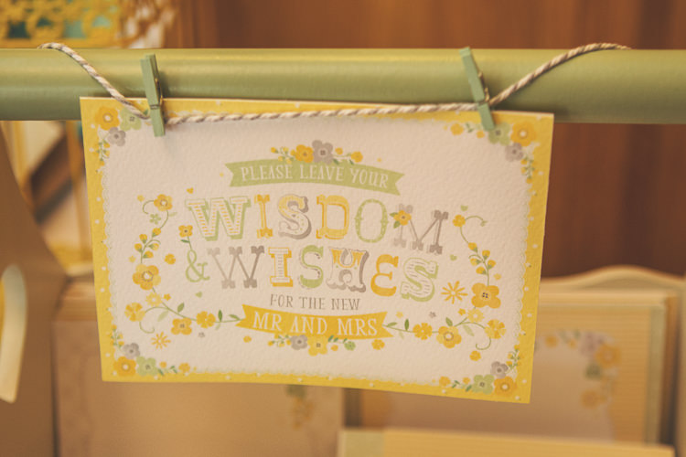 Wish Cards Guest Book Quirky Relaxed Yellow Country Wedding http://www.mr-and-mrs-wedding-photography.co.uk/
