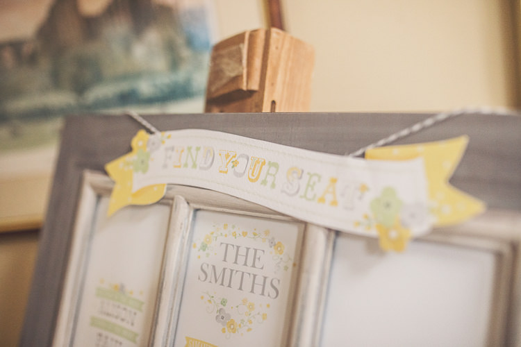 Grey Floral Seating Table Plan Chart Quirky Relaxed Yellow Country Wedding http://www.mr-and-mrs-wedding-photography.co.uk/