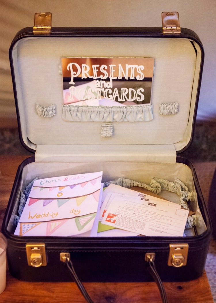 Wedding Suitcase Card Gift Holder Storage http://www.joannabongard.com/