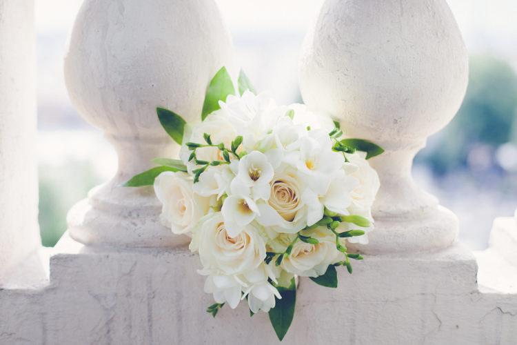 Freesia Rose Bouquet Bride Flowers Romantic Parisian Garden Wedding http://www.eva-photography.com/