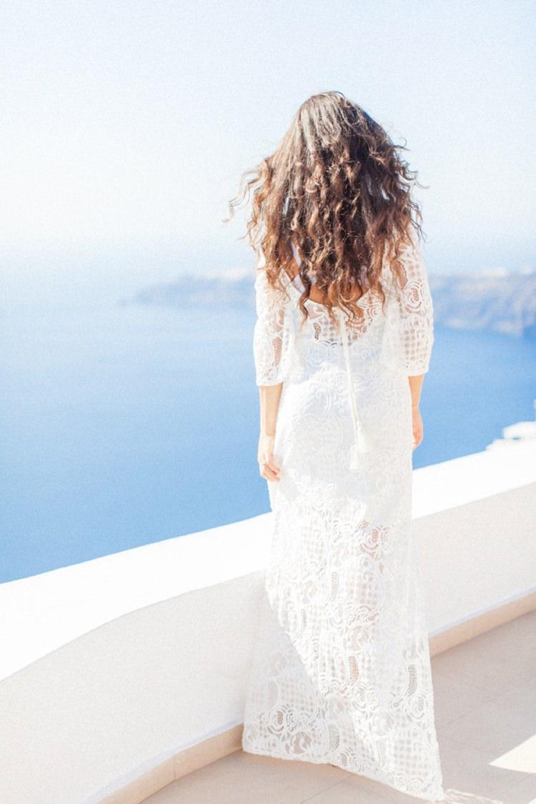 Boho Waves Hair Bride Bridal Wedding Bohemian Blue White Santorini Engagement http://www.robertafacchini.com/