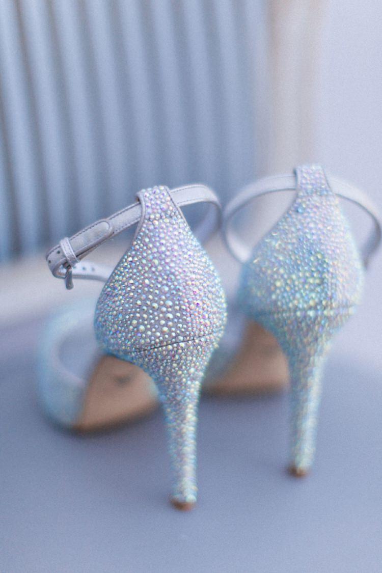 Sparkle Heels Shoes Bohemian Blue White Santorini Engagement http://www.robertafacchini.com/