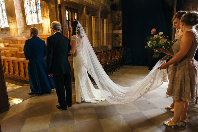 Lace Veil Bride Bridal Modern Natural Pink Metallic Wedding http://photosbyzoe.co.uk/