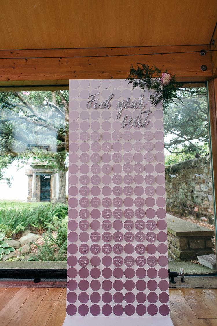 Purple Ombre Silver Glitter Table Seating Plan Chart Modern Natural Pink Metallic Wedding http://photosbyzoe.co.uk/