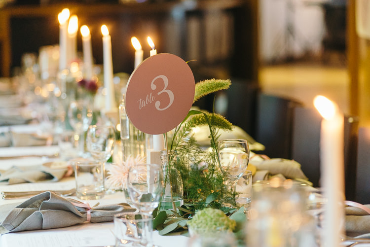 Table Number Stationery Modern Natural Pink Metallic Wedding http://photosbyzoe.co.uk/