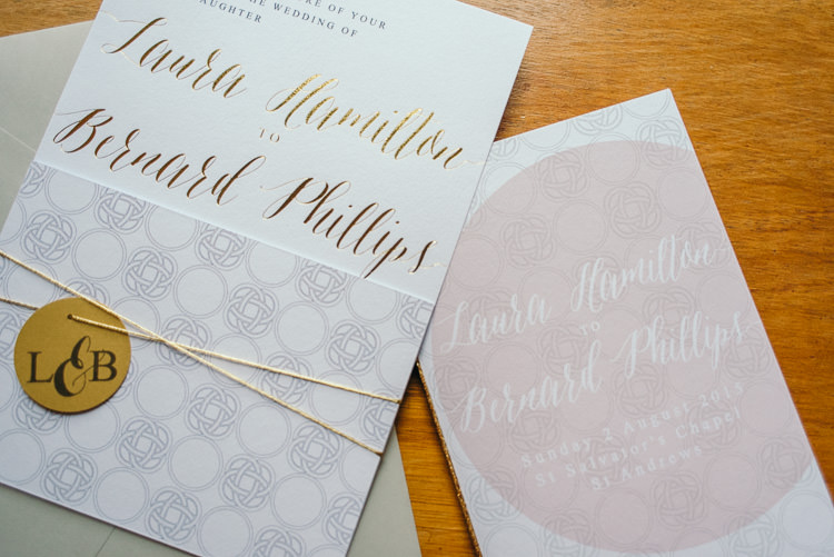 Whimsical Lettering Calligraphy Stationery Invitation Modern Natural Pink Metallic Wedding http://photosbyzoe.co.uk/