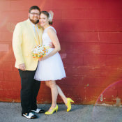 Alternative & Sweet Colourful Theatre Wedding in Tennessee