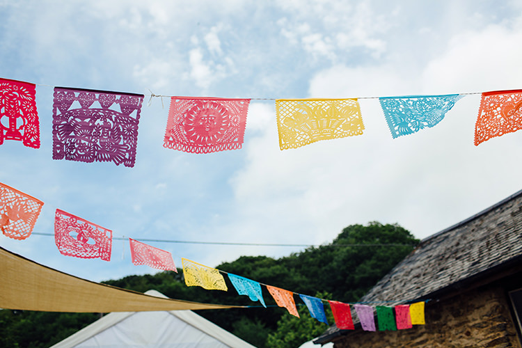 Mexican Bunting Woodland Farm Camping Weekend Wedding http://www.frecklephotography.co.uk/