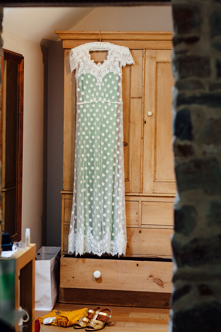 Green Polka Dot Dress Katya Katya Shehurina Woodland Farm Camping Weekend Wedding http://www.frecklephotography.co.uk/