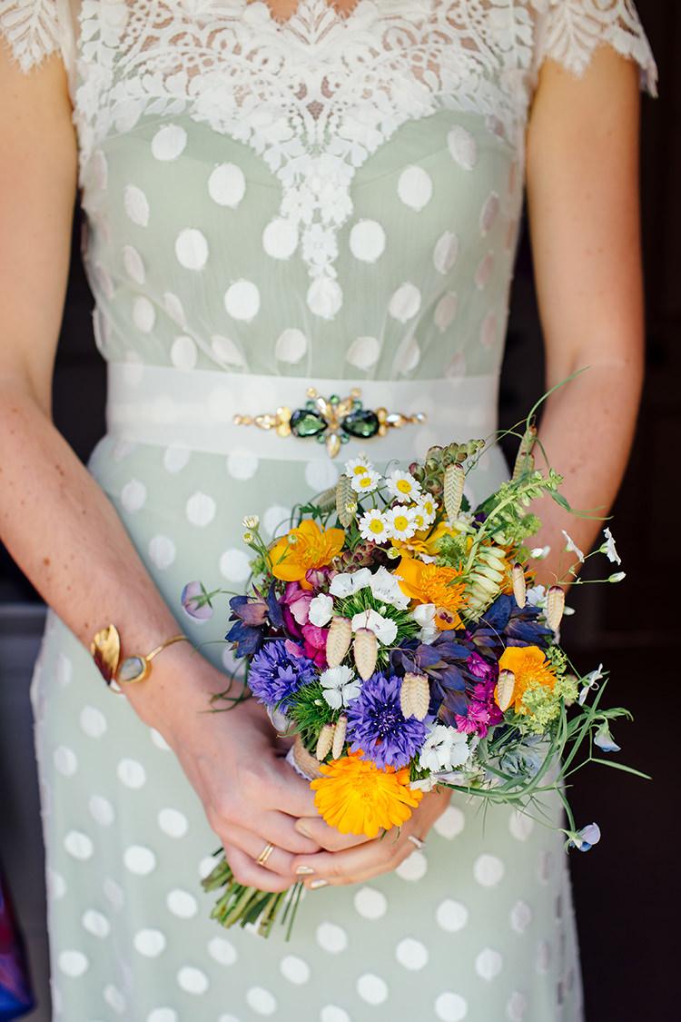 Seasonal Wild Bouquet Flowers Bride Bridal Woodland Farm Camping Weekend Wedding http://www.frecklephotography.co.uk/