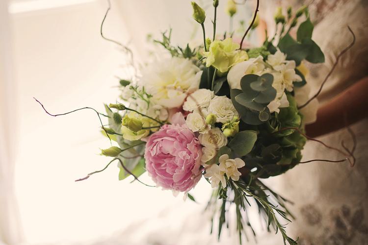 Flowers Bouquet Bride Bridal Peony Pink Stylish Pastel Rustic Barn Wedding http://helenrussellphotography.co.uk/