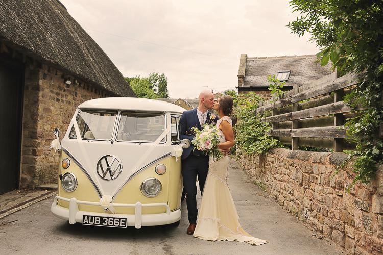 VW Camper Stylish Pastel Rustic Barn Wedding http://helenrussellphotography.co.uk/