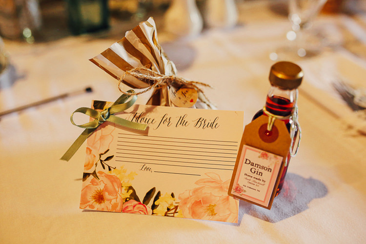 Advice Cards Favours Drink Bottle Stylish Pastel Rustic Barn Wedding http://helenrussellphotography.co.uk/