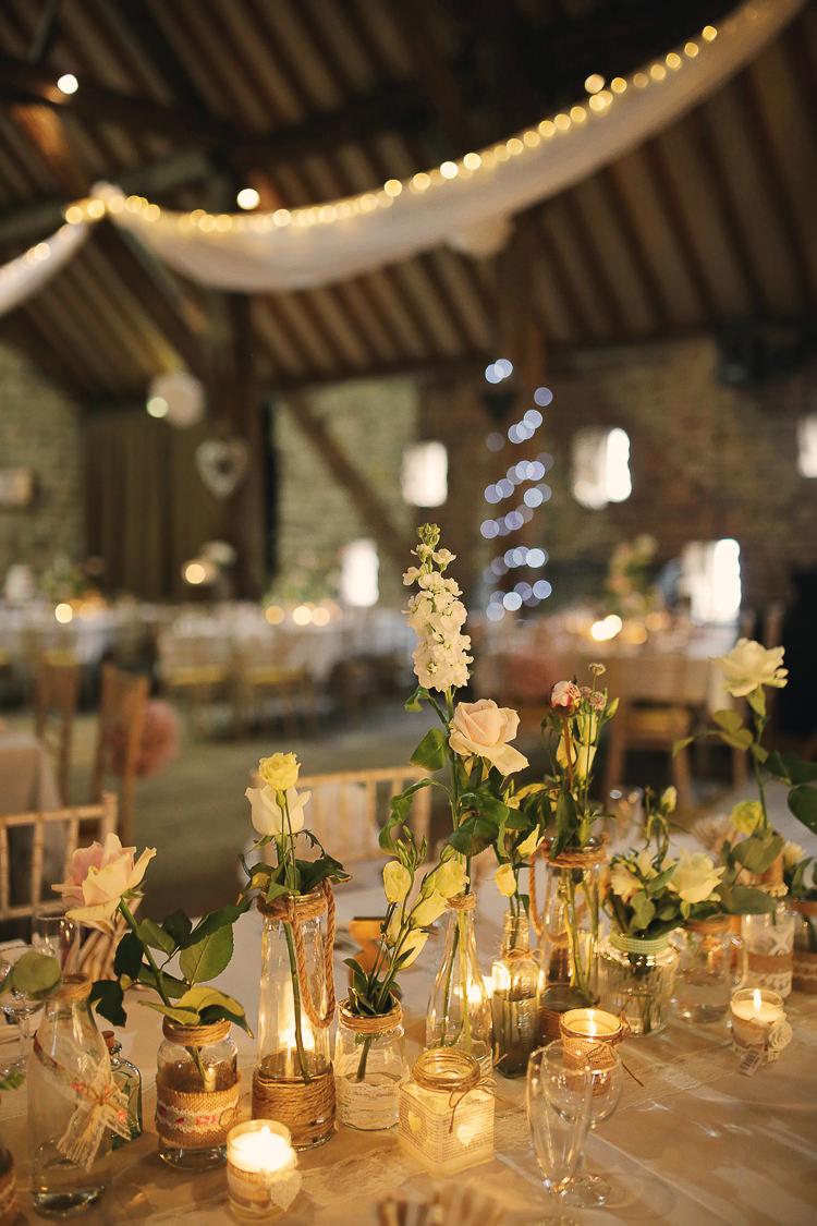 Stylish pastel rustic barn wedding whimsical