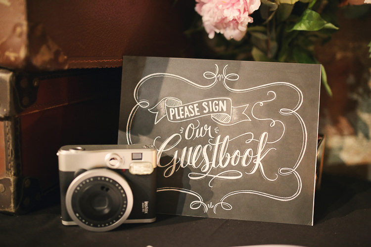 Polariod Guest Book Stylish Pastel Rustic Barn Wedding http://helenrussellphotography.co.uk/