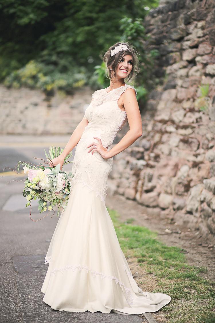 Stylish pastel rustic barn wedding whimsical wonderland weddings viola by claire pettibone dress gown bride bridal stylish pastel rustic barn wedding http ombrellifo Images