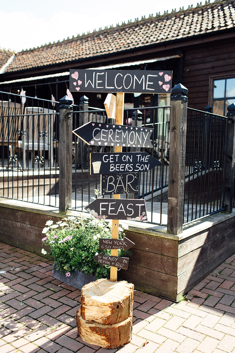 Blackboard Sign Post Home Made Rustic Eclectic Wedding http://www.frecklephotography.co.uk/