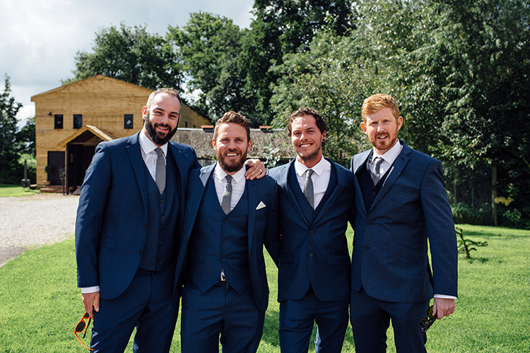 Navy Suit Grey Tie Groom Home Made Rustic Eclectic Wedding http://www.frecklephotography.co.uk/