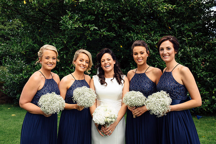 Navy Blue Bridesmaid Dresses Home Made Rustic Eclectic Wedding http://www.frecklephotography.co.uk/