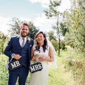 Eclectic Home Made Rustic Pink & Navy Wedding
