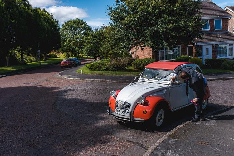 VW Beetle Mismatched Farm Tipi Wedding http://www.andrewkeher.co.uk/