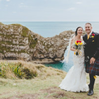 Durdle Door Cliff Wedding http://www.paulunderhill.com/