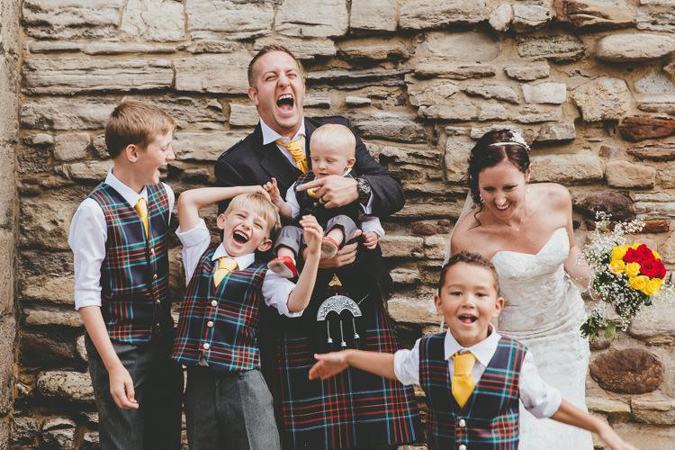 Tartan Waistcoats Page Boys Durdle Door Cliff Wedding http://www.paulunderhill.com/