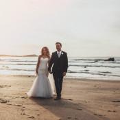 Casual Beach Dusky Pink Wedding