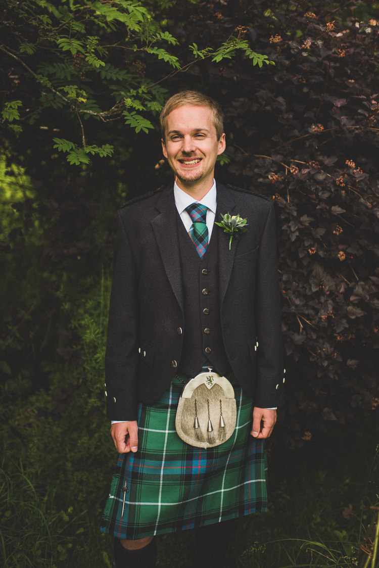 Kilt Tartan Groom Cornflower Blue Jade Green Scottish Wedding http://www.mattpenberthy.com/