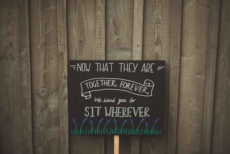 No Seating Plan Chart Cornflower Blue Jade Green Scottish Wedding http://www.mattpenberthy.com/