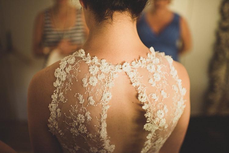 Sheer Back Bridal Bride Dress Gown Ellis Bridals Cornflower Blue Jade Green Scottish Wedding http://www.mattpenberthy.com/