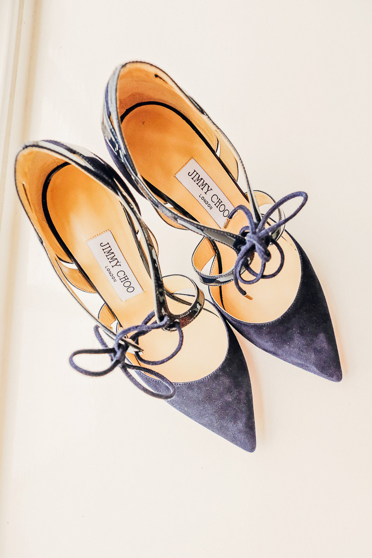 Navy Jimmy Choo Heels Shoes Bride Bridal Rustic Treehouse Wedding http://helenrussellphotography.co.uk/