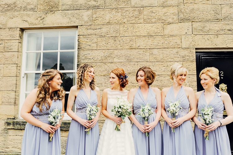 Lilac Halterneck Bridesmaid Dresses Rustic Treehouse Wedding http://helenrussellphotography.co.uk/