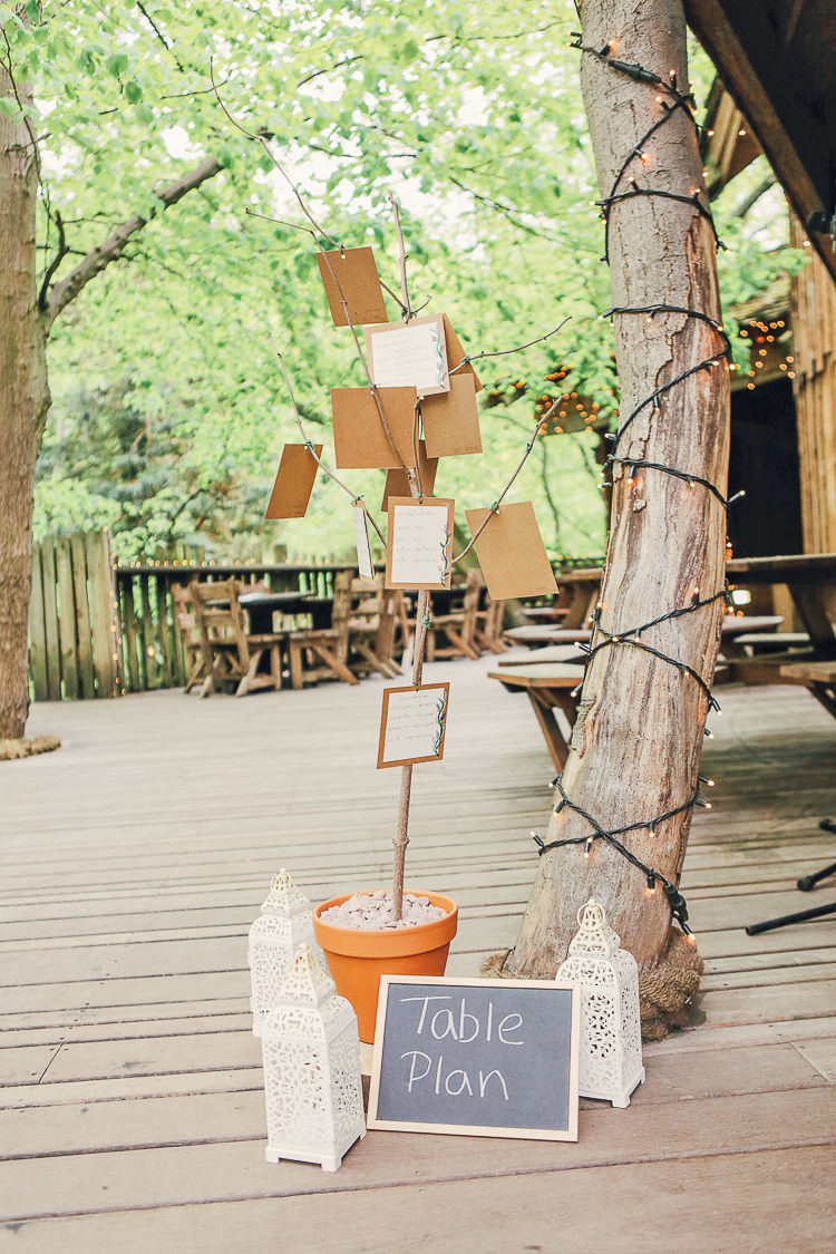 Table Plan Seating Chart Tree Rustic Treehouse Wedding http://helenrussellphotography.co.uk/