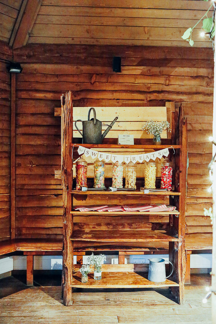 Sweet Sweetie Table Furniture Bar Station Rustic Treehouse Wedding http://helenrussellphotography.co.uk/