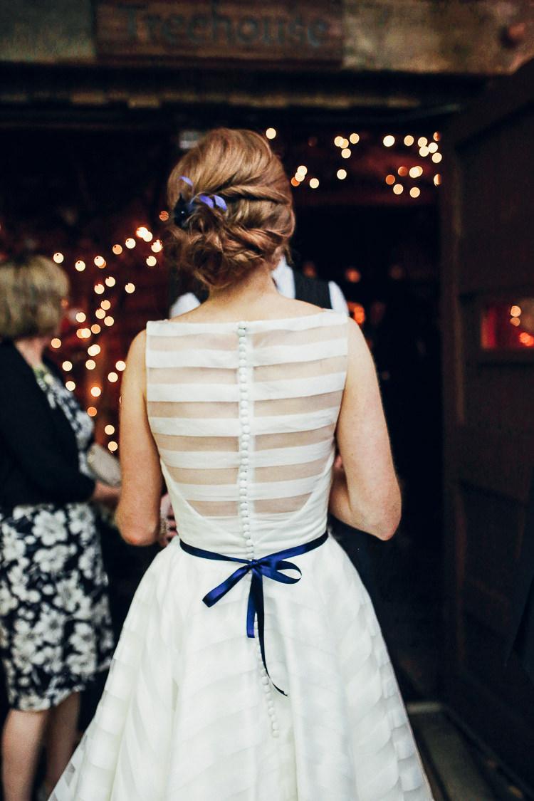 House Mooshki Dress Bride Bridal Stipe Rustic Treehouse Wedding http://helenrussellphotography.co.uk/