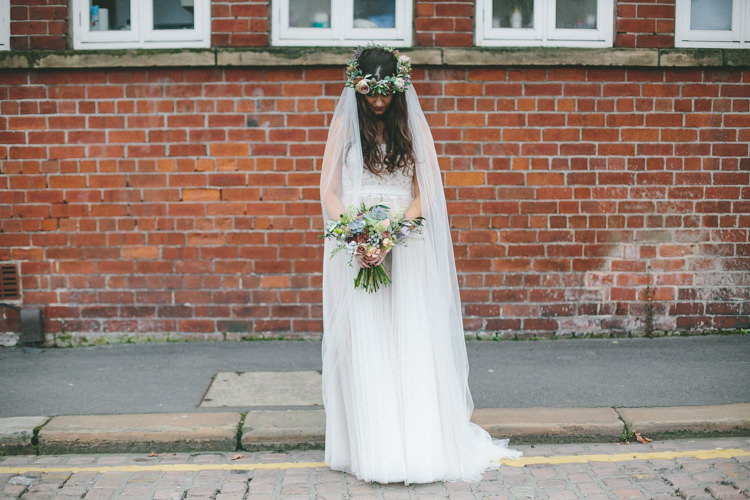 Veil Bride Tulle Dress Gown Bridal Industrial Indie Autumn City Wedding http://www.elliegracephotography.co.uk/