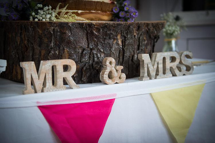 Mr Mrs Sign Letters Colourful DIY Village Fete Wedding http://jamesgristphotography.co.uk/blog/