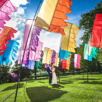 Glastonbury Festival Garden Party Wedding http://www.tommyreynoldsweddings.co.uk/