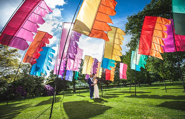 Flags Glastonbury Festival Garden Party Wedding http://www.tommyreynoldsweddings.co.uk/