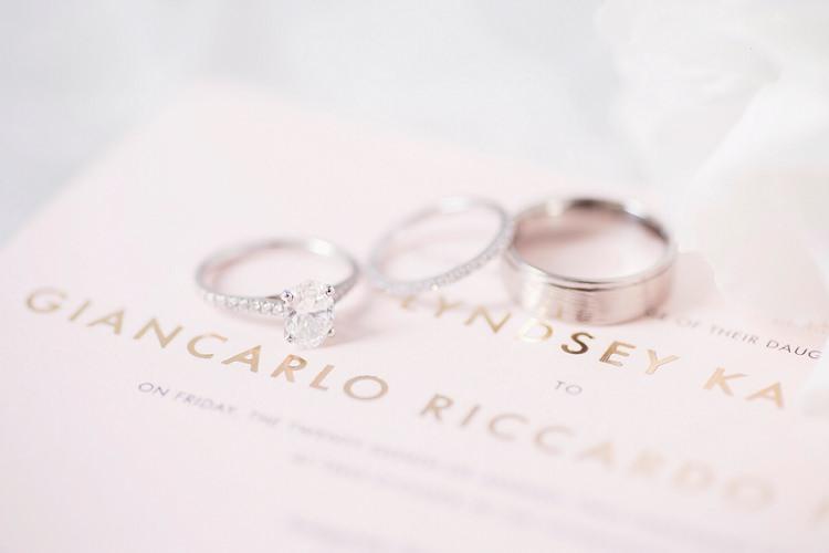 Rings Bands Diamond Oval Engagement Eternity Romantic Metallic Blush Wedding http://www.craigsandersphotography.co.uk/