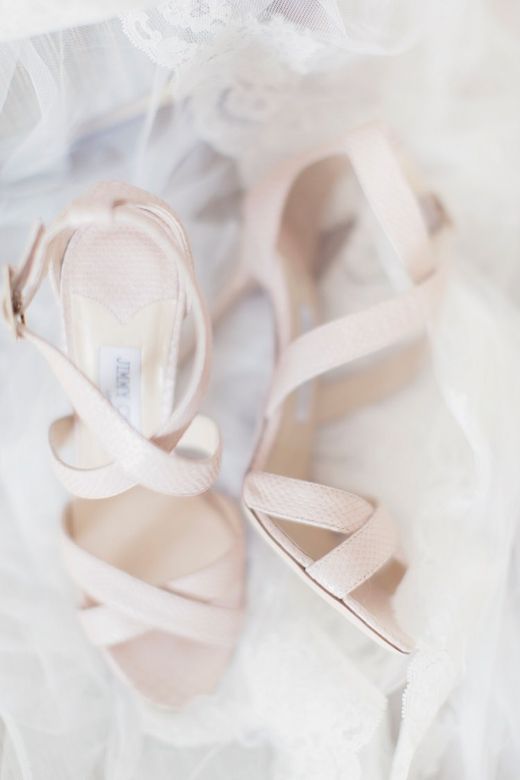 Nude Jimmy Choo Strappy Shoes Heels Bride Bridal Romantic Metallic Blush Wedding http://www.craigsandersphotography.co.uk/