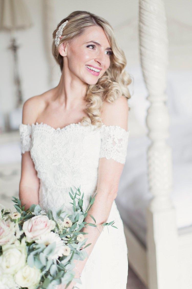 Off Shoulder Dress Gown Bride Bridal La Sposa Lace Romantic Metallic Blush Wedding http://www.craigsandersphotography.co.uk/