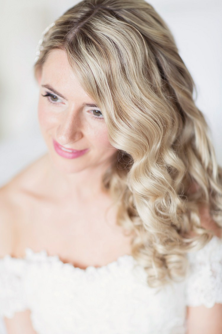 Waves Curls Hair Bride Bridal Long Style Romantic Metallic Blush Wedding http://www.craigsandersphotography.co.uk/