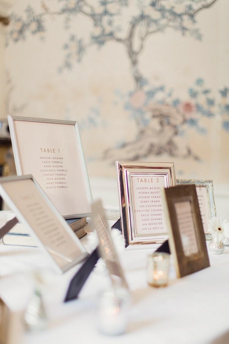 Frame Seating Table Plan Chart Romantic Metallic Blush Wedding http://www.craigsandersphotography.co.uk/