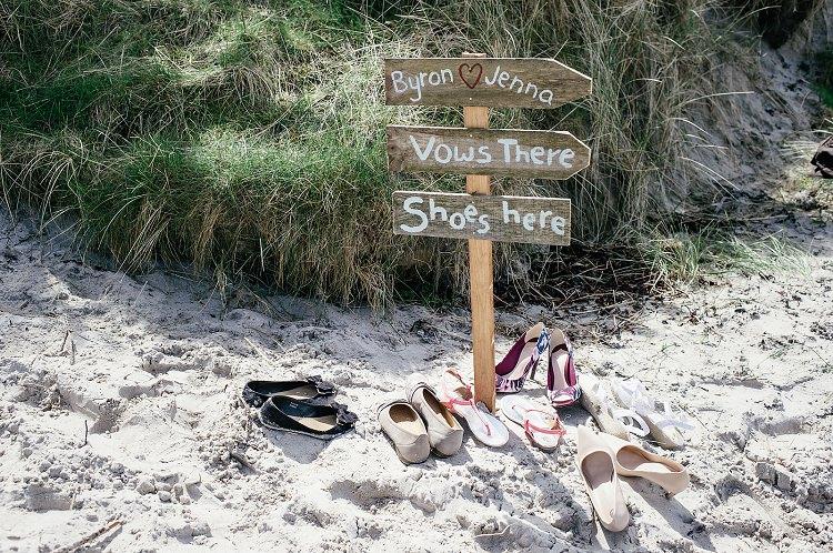 Rustic Sign Post Scottish Beach Wedding http://www.kat-hill.com/