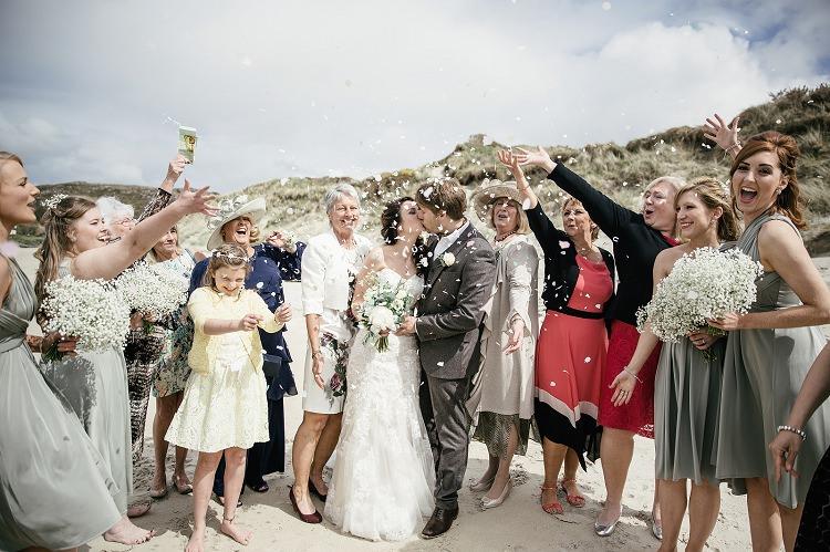 Confetti Throw Scottish Beach Wedding http://www.kat-hill.com/