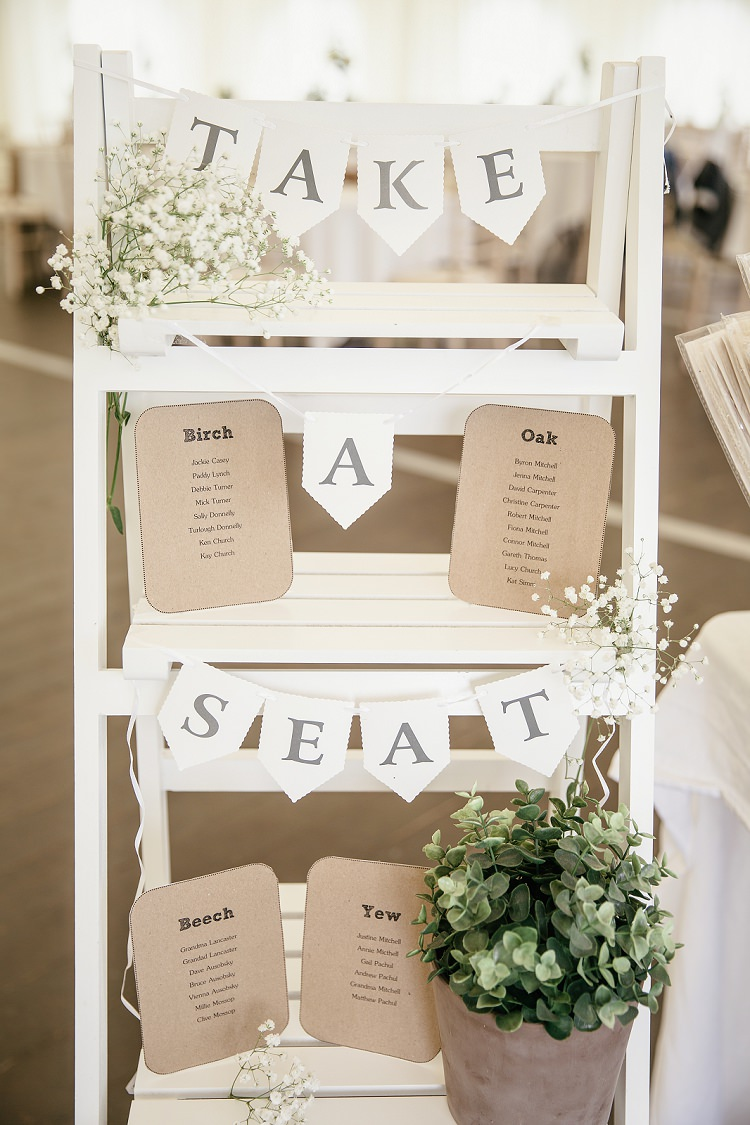 Ladder Seating Table Plan Chart Scottish Beach Wedding http://www.kat-hill.com/