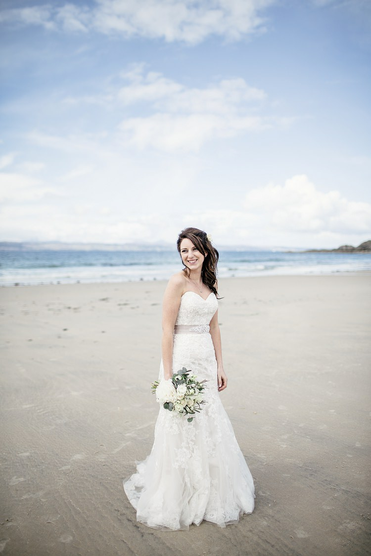 Maggie Sottero Lace Dress Gown Bride Bridal Scottish Beach Wedding http://www.kat-hill.com/