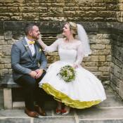 Cute & Quirky Modern Yellow & Grey City Wedding